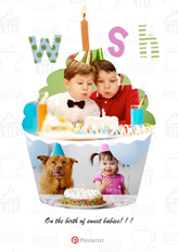 cake-shaped birthday card template