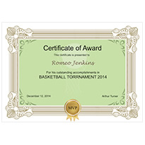 publisher award certificate templates
