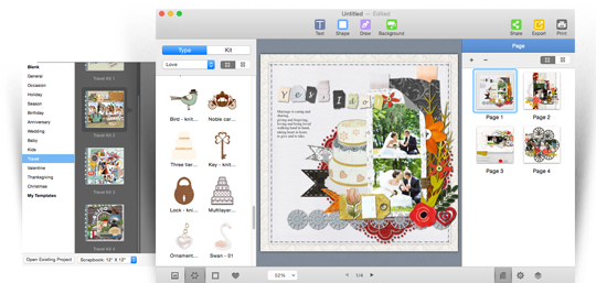 Scrapbook Crafter for Mac screenshot