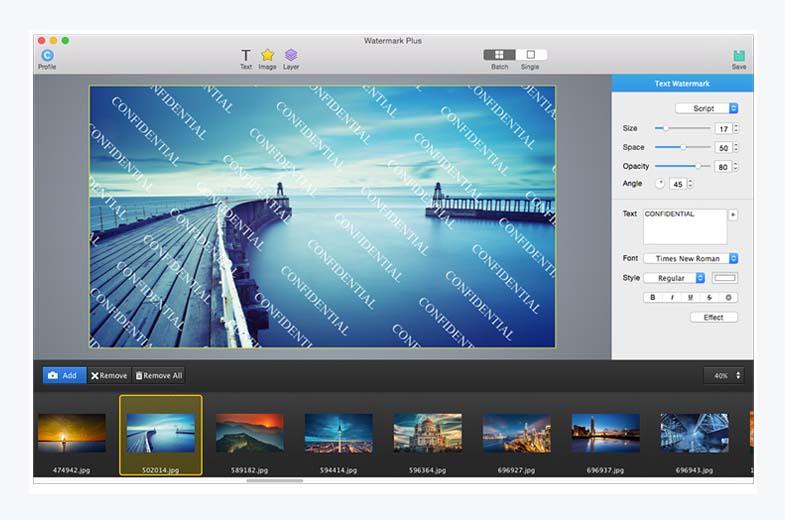Watermark Plus - 批量为图片添加水印软件[OS X]丨反斗限免
