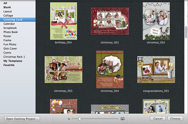 How to make a homemade christmas card in minutes for Iphoto calendar templates