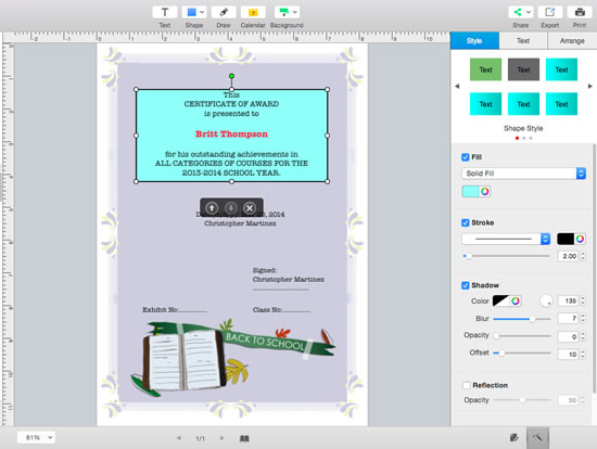 how to add text to a signed pdf