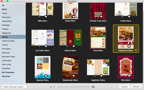 how to make a restaurant menu design with professional restaurant