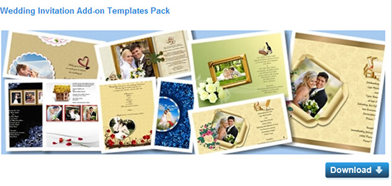 download Wedding template from website