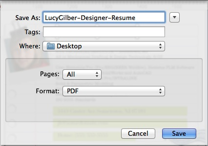 the resume as a file you can click export button to save it as pdf