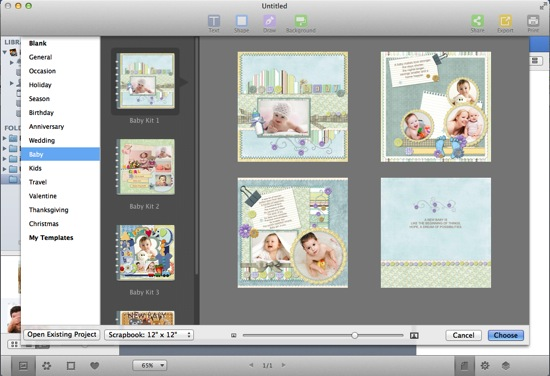 choose baby scrapbook