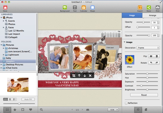 How to make custom greeting cards on mac you are given easy access to iphoto aperture and local folders on your mac also you can directly drag and drop any folder under folders on the left m4hsunfo