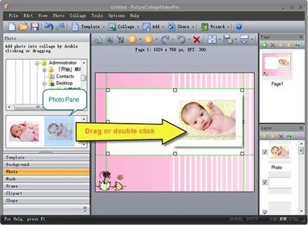 Use Picture Colalge Maker to Make Impressive Newborn Baby Invitation
