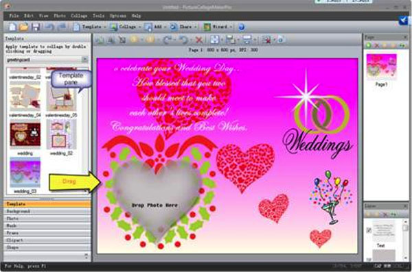 How to make a wedding invitation card with picture collage maker pro step 1 choose template stopboris