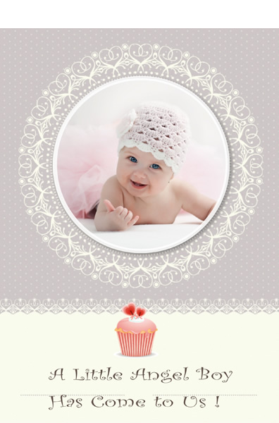 Baby card templates baby shower cards greeting box for Free greeting card templates for mac