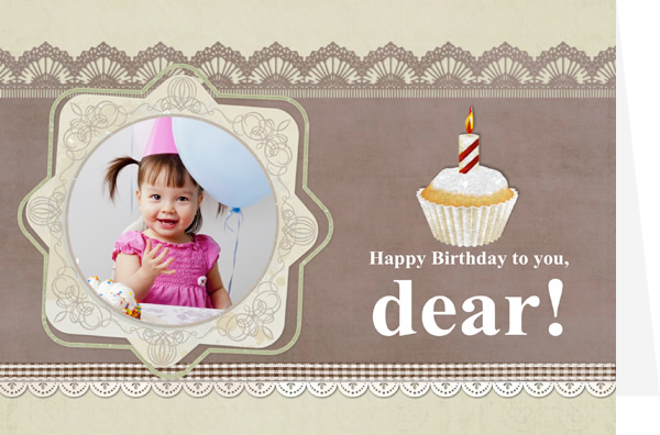 One Year Old Card For Sweet Baby Girl Make Custom Birthday