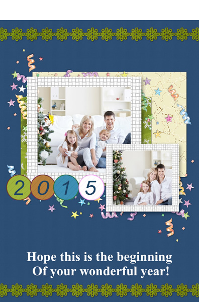 simple enjoyment photo card for new year