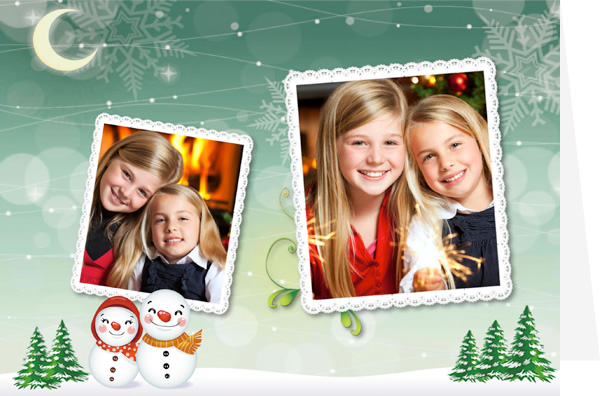 happy christmas card template - Photo Personalized Christmas Cards
