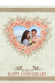 the flower of love card for anniversary day