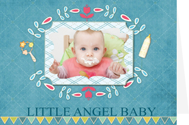 sweet card template for new born baby