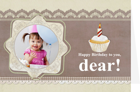 one year old card for sweet baby girl