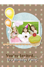 sweet birthday invitation card template