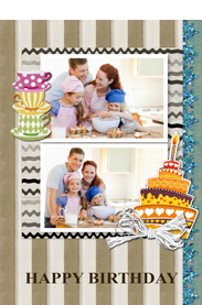 family cooking card for memorable birthday