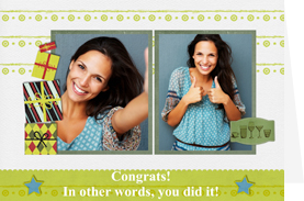 printable congratulation card for you've done it