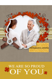 we are so proud of you congratulation card
