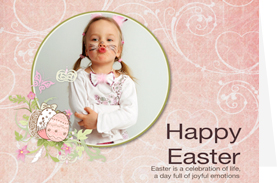 sweet baby girl easter card template