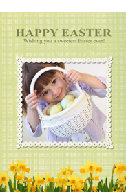 flowers easter card template