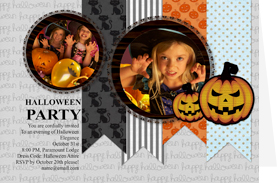 halloween party card template
