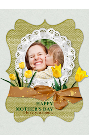 sweet mother's day card with tulips