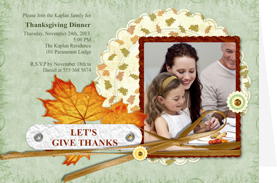 memorable thanksgiving card for family dinner