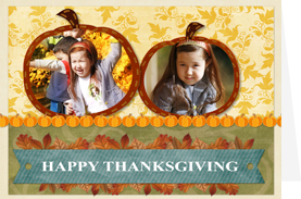 pumpkin thanksgiving card template