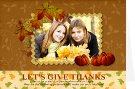 memorable thanksgiving card with gracious bliss