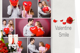 gorgeous valentine card for happy couple