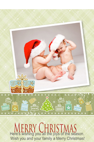 sweet christmas card template