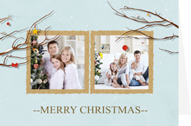fresh and simple christmas card template