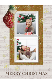 christmas stocking card template