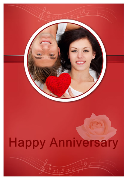 anniversary card templates greeting card builder