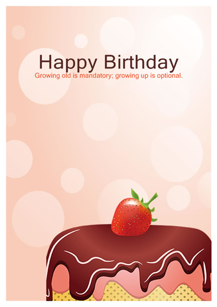 template for birthday cards