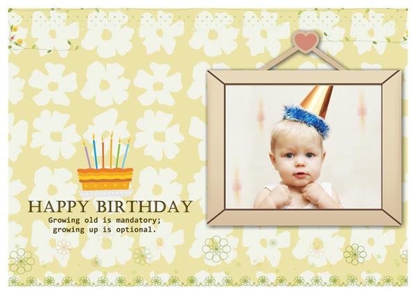 ... Babyu0027s Happy Birthday Card Template ...  Birthday Greetings Template
