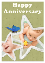 greeting card sample for anniversary
