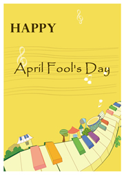 happy Fool's Day greeting card