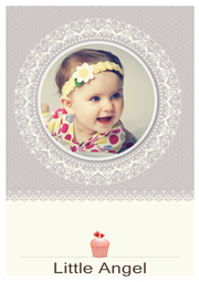 greeting card template of cute baby