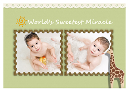 greeting card template of new baby girl