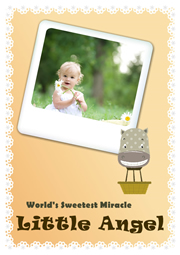 greeting card sample of pretty baby