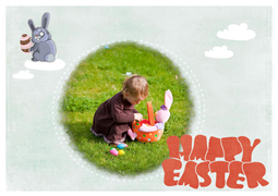 cute baby easter card sample