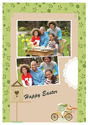 happy easter card with children