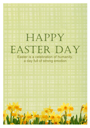 easter wish card template
