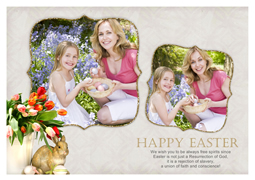 family easter celebration card sample