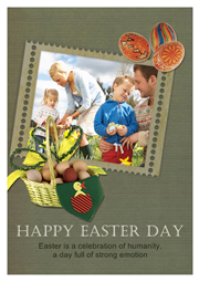 happy easter card with family