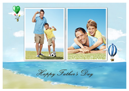 simple Father's Day greeting card template