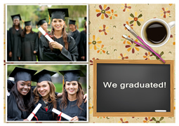 greeting card template of graduation